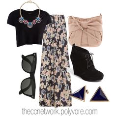 """Maxi Skirt Outfit 06"" by theccnetwork on Polyvore"
