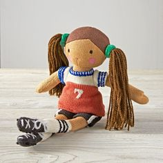 Shop Knit Crowd Sporty Mia Doll.  One doll's a pal.  Two is company.  And three's a crowd.  Especially when they're these super soft, hand knit dolls with stylish outfits.