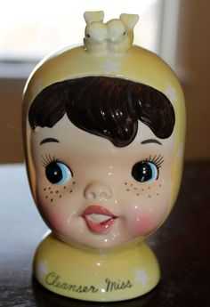 Vintage Napco Miss Cutie Pie Cleanser Miss by JennCannon on Etsy, $124.99