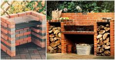 Backyard Fire Pit Bbq Pizza Ovens Ideas For 2019 Brick Built Bbq, Brick Grill, Wood Grill, Backyard Bbq Pit, Backyard Landscaping, Barbecue Ideas Backyard, Bbq Ideas, Outdoor Barbeque, Backyard Movie