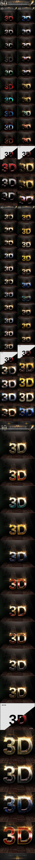 50 Bundle 3D Text Style V.260615