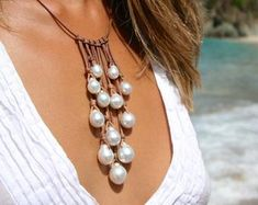 Australian & Tahitian cultured pearls. Ancient by TresorsDeStBarth