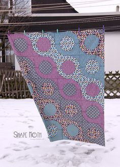 Shape Moth: Micro Mod quilt top finished