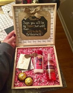 Sister-in-law bridesmaid proposal ❤️