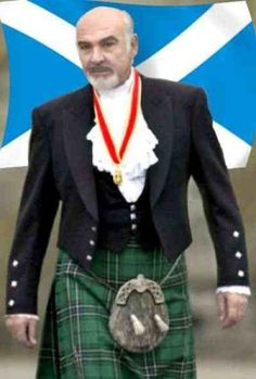 """Men In Kilts. And the most famous Scotsman of all, Sir Sean """"James Bond"""" Connery!  He's so gorgeous!"""