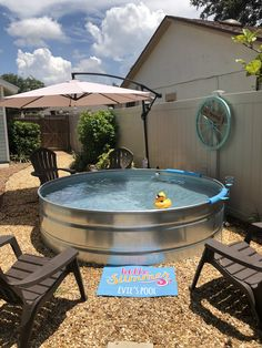 Our stock tank pool!