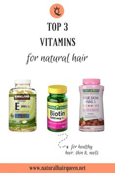 27 Ideas For Hair Products For Growth Vitamins - Hair care tips - Natural Hair Care Tips, Natural Hair Growth, Natural Hair Styles, Vitamins For Skin, Vitamins For Hair Growth, Diy Hair Vitamins, Nature Made Vitamins, Vitamins For Women, Daily Vitamins