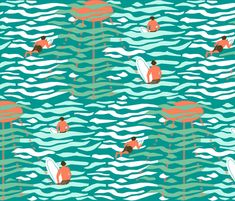 Paddling out fabric by mirjamauno on Spoonflower - custom fabric