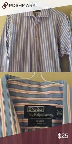 Dress shirt Polo Classic fit great condition dry cleaned 16.5 32/33 Polo by Ralph Lauren Shirts Dress Shirts