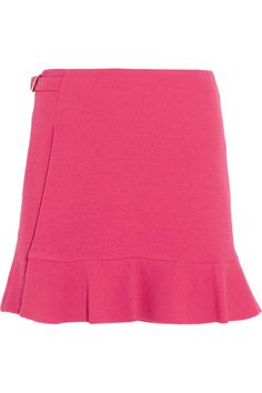 Boutique Moschino - Buckled Crepe Mini Skirt - Fuchsia - IT46