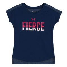 Under Armour® Girls 4-6X HeatGear® Fierce Graphic Tee