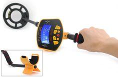 Metal Detector 'Treasure Hunter' - 8.2 Inch Water Resistant Coil. LCD Display, Detects All Metals, Adjustable Stem