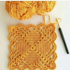 Crochet Motifs, Granny Square Crochet Pattern, Crochet Blocks, Crochet Squares, Crochet Granny, Filet Crochet, Crochet Doilies, Crochet Lace, Granny Squares