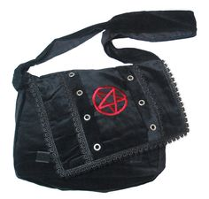 PENTAGRAM Shoulder BAG  Velvet  PUNK GOTH EMO OCCULT