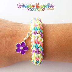 Baby Dragon Scale Creastic Bracelet ! Regarder le tutoriel et visiter notre site sur www.CreasticBracelet.com