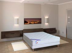 NEWSOM Matelas + sommier latex 140 x 190 cm Framboise prix promo Mistergooddeal 399.99 € TTC au lieu de 659.99 €.