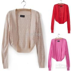 Wholesale Women Sweater - Buy New Ladies Knitted Shrug Women Bolero Cardigan Top Short Sweater Shawl Waistcoat, $17.96 | DHgate