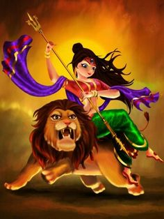 Durga Maa Paintings, Durga Painting, Lord Shiva Painting, Shiva Art, Hindu Art, Saraswati Devi, Shiva Shakti, Maa Durga Photo, Navratri Puja