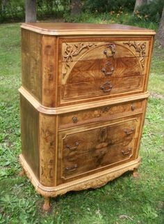 Marquetry-Masterpiece-Antique-Furniture-Chest-Drawers-Dresser-French-Provincial