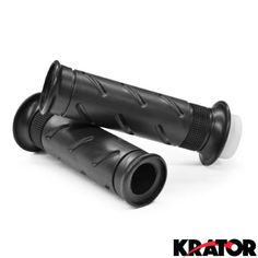 Krator® Black Motorcycle Handle Bar Hand Grips 7/8' Pair For Honda CBR1100XX CBR 1100 Super Blackbird