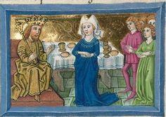 """Furtmeyr-Bibel (Deutsche Bibel """"Münchener Altes Testament""""). Band 1:  Genesis - Ruth. Cgm 8010a 1465-70, Regensburg Folio 181"""