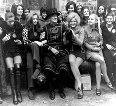 Percy Belson, a Yeoman Gaurd at the Tower of London, meets the contestants for the 1971 Miss World Contest Miss World, Tower Of London, Vintage Boots, Cool Boots, Beauty Queens, Vintage Photographs, Thigh Highs, Fashion Beauty, Vintage Fashion