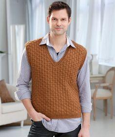 Easy Crochet Mens Vest Pattern