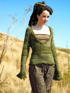 Knit Sweater Pattern - Simple Knitted Bodice
