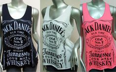 Jack Daniels Tank Top T-Shirt Women shirt Whiskey Old Time Jack Daniel's shirt Rock Punk  White Black Pink  More Color Size S M on Etsy, $12.00