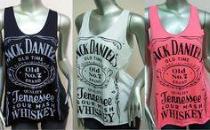 Jack Daniels Tank Top T-Shirt Women shirt Whiskey Old Time Jack Daniel's shirt Rock Punk  White Black Pink  More Color Size S M on Etsy, $12.00