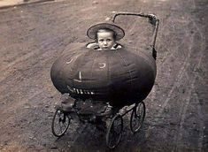 Antique vintage Halloween JOL pumpkin baby buggy!!  LOVE this!!