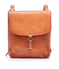 Leather shoulder bag with a 70's vintage look by @Maison Martin Margiela