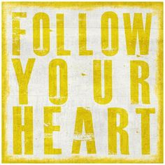 "Follow Your Heart 20"" High Canvas Wall Art -"