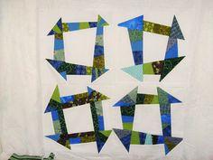 wonky churn dash quilt block tutorial