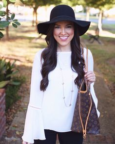 Bell Sleeves + Floppy Hat ✖️ New outfit post up on the blog! http://liketk.it/2pm1S @liketoknow.it #liketkit