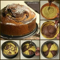 Chocolate and Vanilla Cake Sweet Recipes, Cake Recipes, Dessert Recipes, Italian Desserts, Mini Desserts, Yummy Treats, Sweet Treats, Chocolate And Vanilla Cake, Sweet Cooking