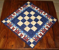 Quilted Christmas Table Topper  Arctic Holiday  by RedNeedleQuilts, $34.00