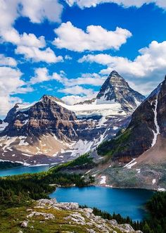Mt Assiniboine from Nublet, Banff National Park, Alberta, Canada; photo by Putt Sakdhnagool Places Around The World, The Places Youll Go, Places To See, Around The Worlds, Parc National De Banff, Beautiful World, Beautiful Places, Amazing Places, Photos Voyages