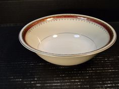"Homer Laughlin Monarch Round Serving Bowl 8 1/2"" Eggshell Georgian EXCELLENT #HomerLaughlin"