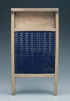 Blue ribbon washboard Rare Enamelware
