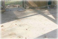 The Flip That Was Almost A Flop- Faux Tile Floor