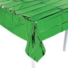 Metallic Green Tablecloth