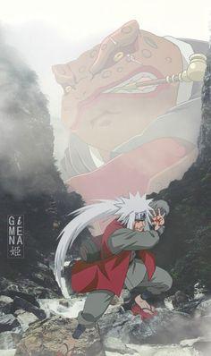 Jiraiya and Gamabunta Naruto Shippuden Sasuke, Naruto Kakashi, Anime Naruto, Naruto Cool, Wallpaper Naruto Shippuden, Boruto, Naruto Wallpaper, Orochimaru Wallpapers, Wallpapers Naruto