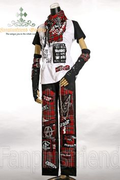 Gothic Punk Red Plaid Patches Pants* Instant Shipping