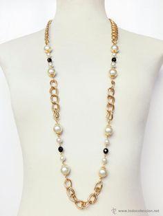 Cadena collar largo, años 70,80, http//eldesvandebartleby.es