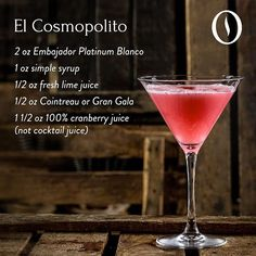 Indulge in a twist. #EmbajadorTequila's El Cosmopolito is the perfect addition to any holiday celebration. Mix, sip, enjoy. #EnjoyResponsibly