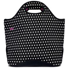 BUILT Everyday Tote - Mini Dot Black & White at www.peddlersgifts.com