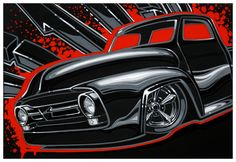 """Custom 53 F100 13""""x19"""" Signed & Numbered Limited Print of 150- $20 (Includes Shipping). Available at:  www.PinstripeChris.com/Store"""