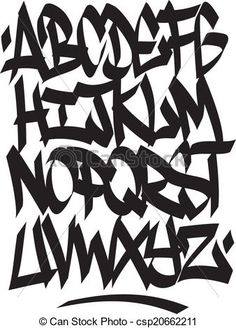 Vector - Hand written graffiti font alphabet. Vector - stock illustration, royalty free illustrations, stock clip art icon, stock clipart icons, logo, line art, EPS picture, pictures, graphic, graphics, drawing, drawings, vector image, artwork, EPS vector art