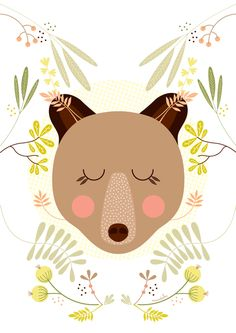Project Personal - Animals on Behance Baby Posters, Bear Illustration, Pattern Art, Cute Cartoon, Wallpaper, Cute Art, Illustrations Posters, Art For Kids, Design Art